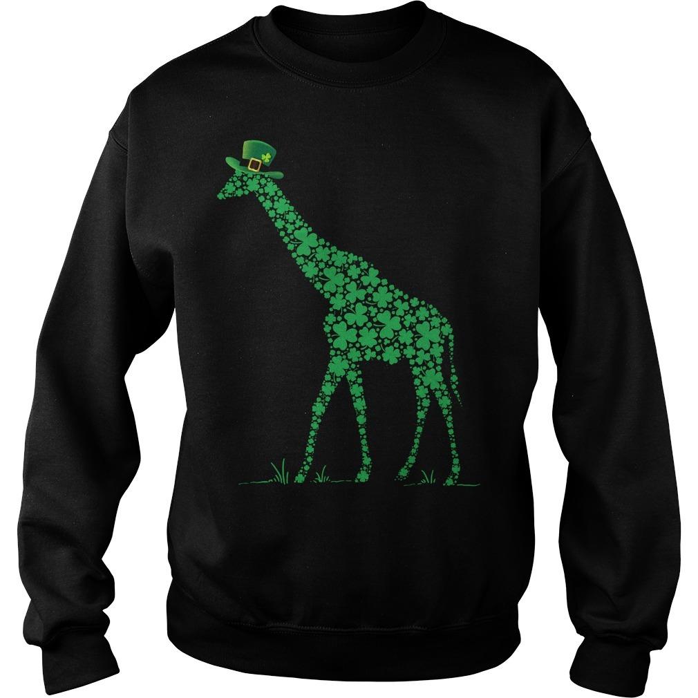 St Patrick's day giraffe Sweater