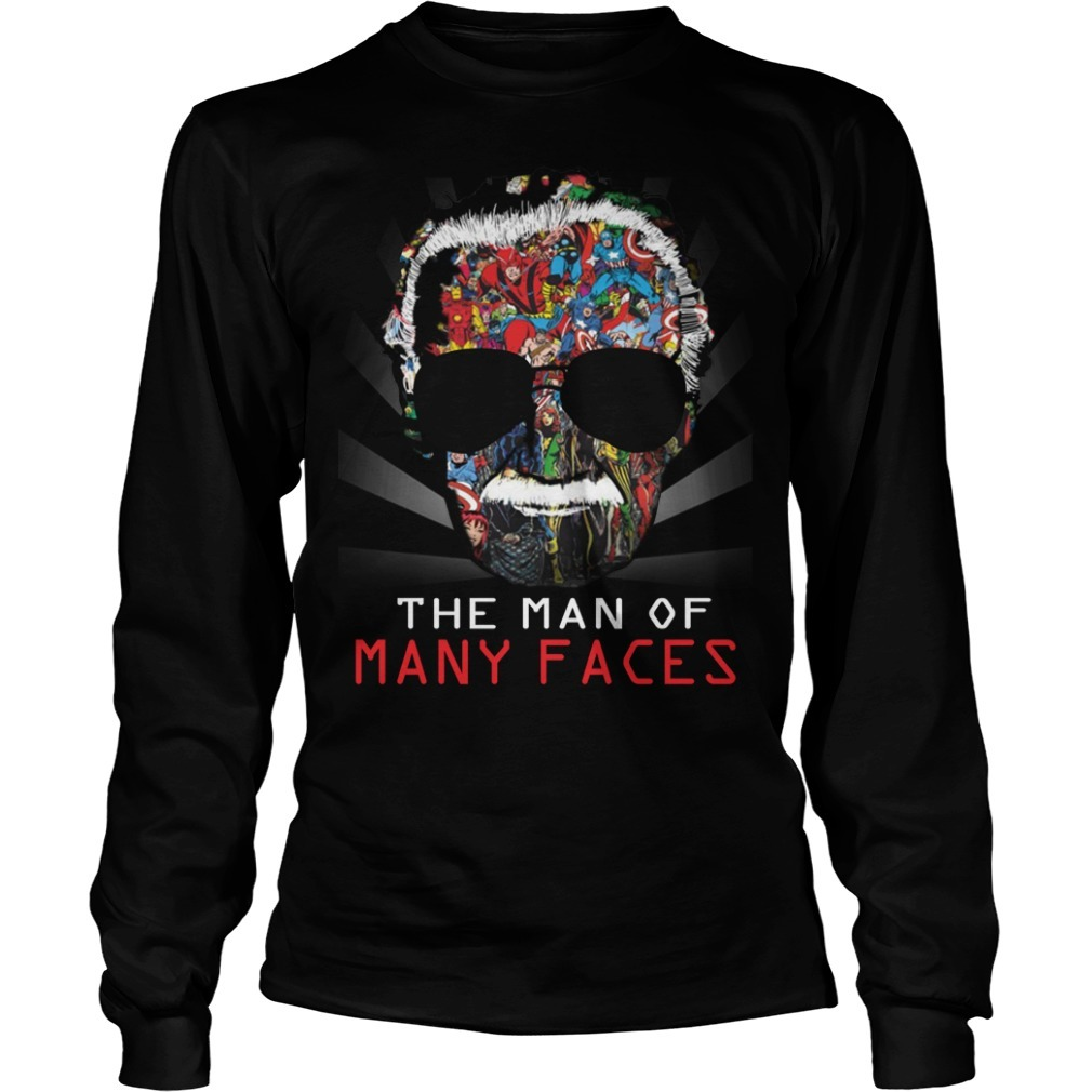 Stan Lee man of many faces Longsleeve Tee