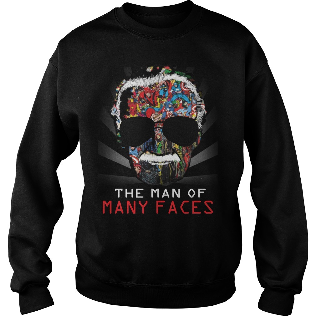 Stan Lee man of many faces Sweater