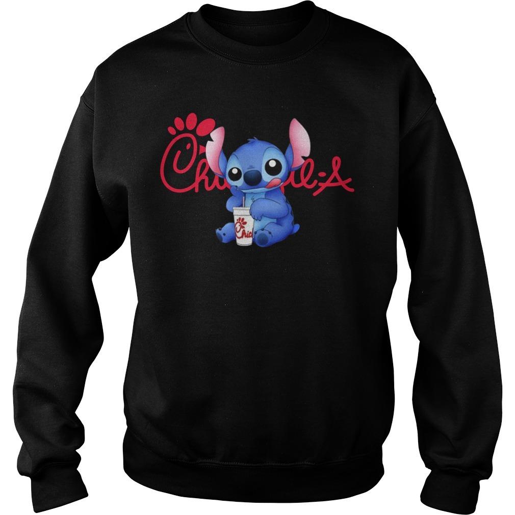 Stitch drinking chick fil a Sweater