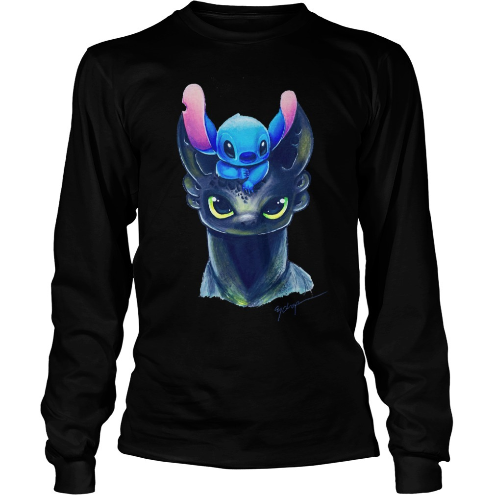 Toothless and stitch Longsleeve Tee