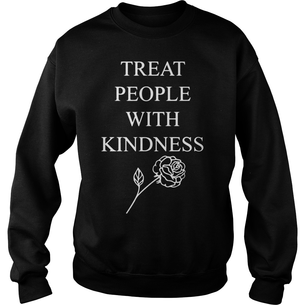 Treat people with kindness rose Sweater