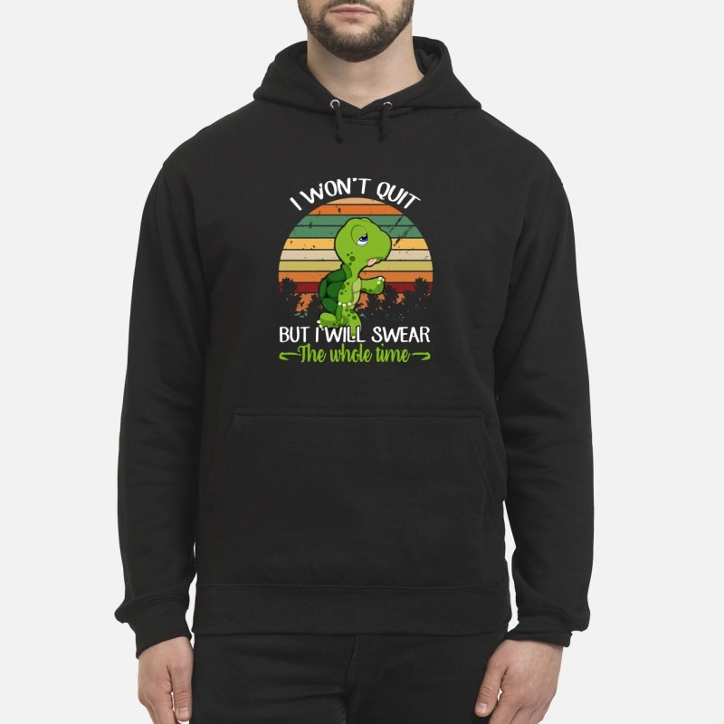 Turtle I won't quit but I will swear the whole time retro Hoodie