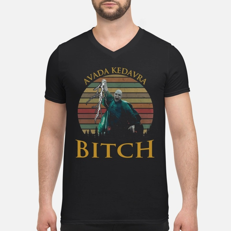 Voldemort Avada Kedavra bitch V-neck T-shirt