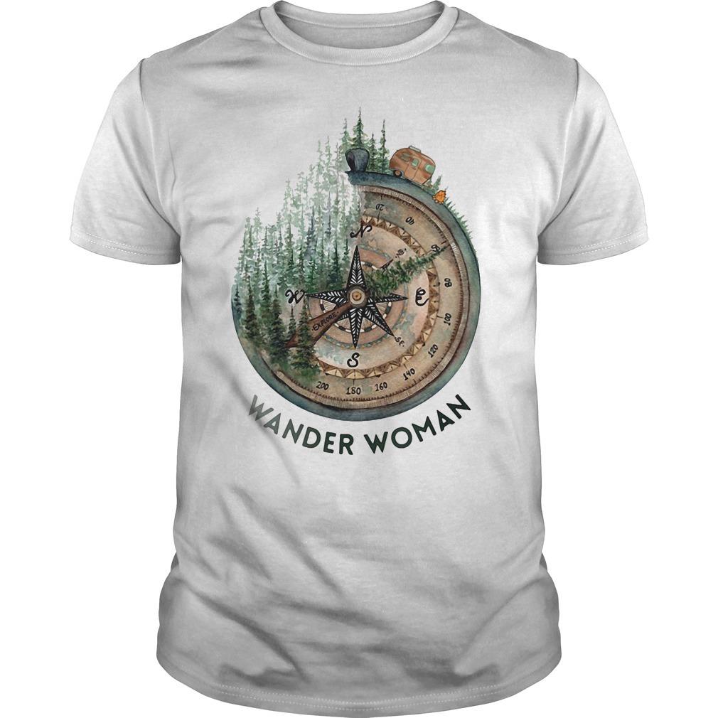 Wander woman loves camping shirt