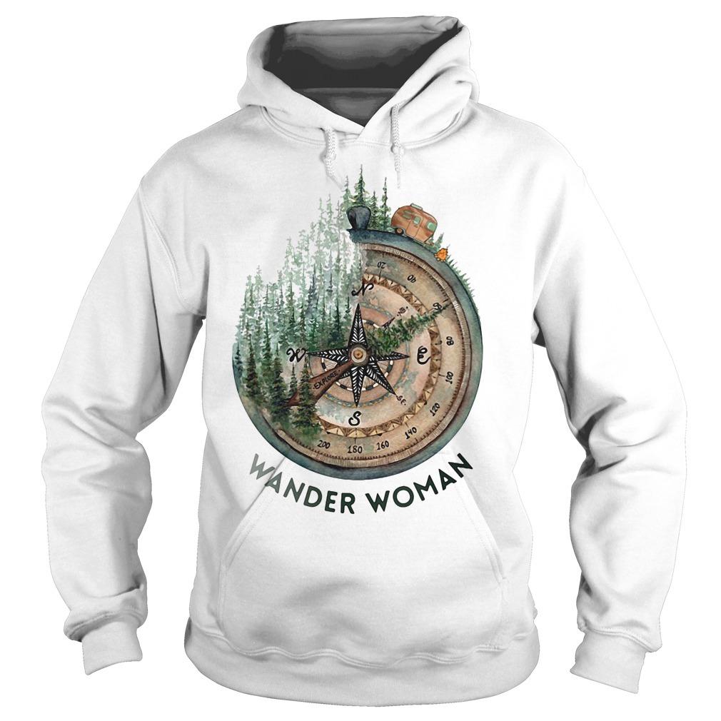 Wander woman loves camping Hoodie