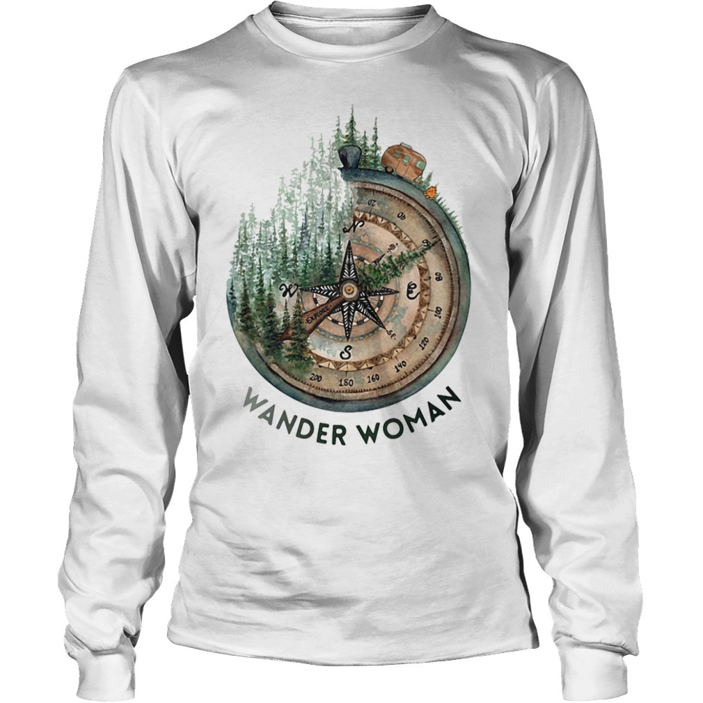 Wander woman loves camping Longsleeve Tee