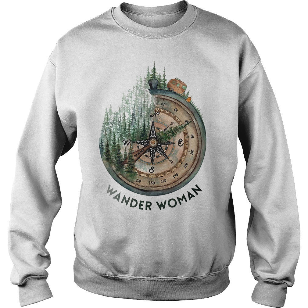 Wander woman loves camping Sweater
