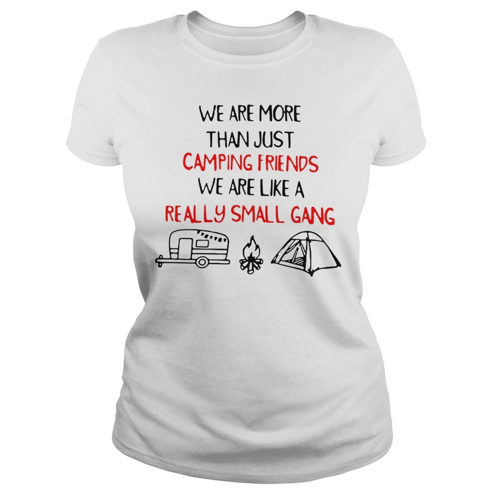 We are more than just camping friends we are like a really small gang Ladies Tee
