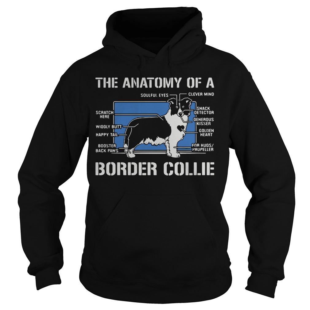 The anatomy of a border collie dog Hoodie