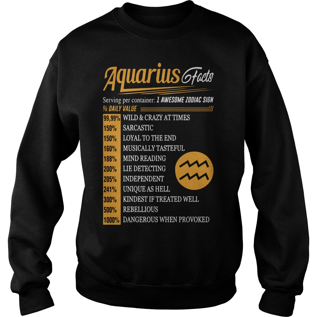 Aquarius facts serving per container I awesome zodiac sign Sweater