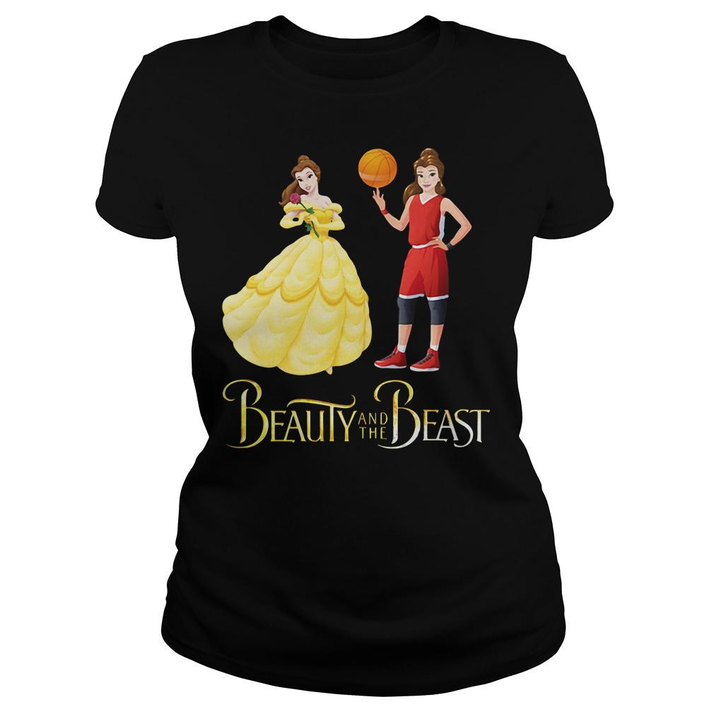 Beauty and the Beast Belle basketball Ladies tee