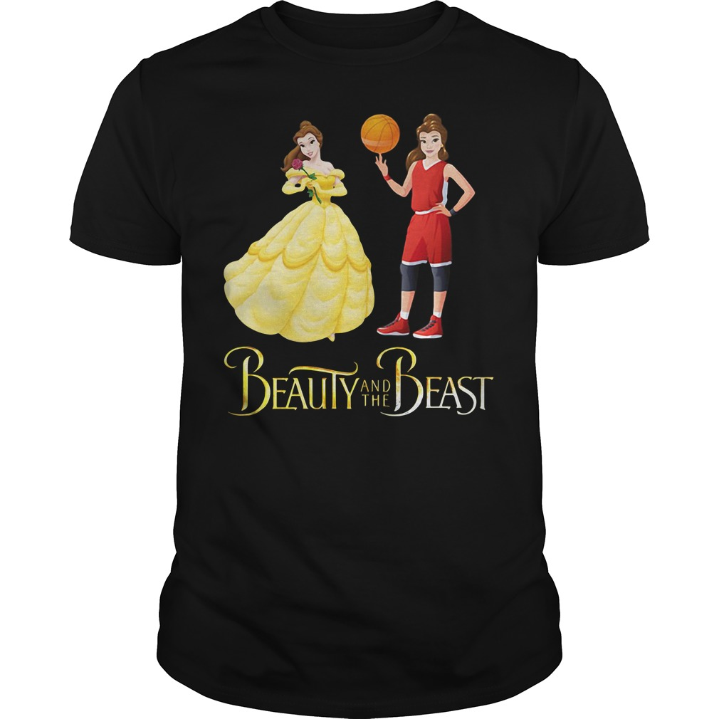Beauty and the Beast Belle basketball shirt