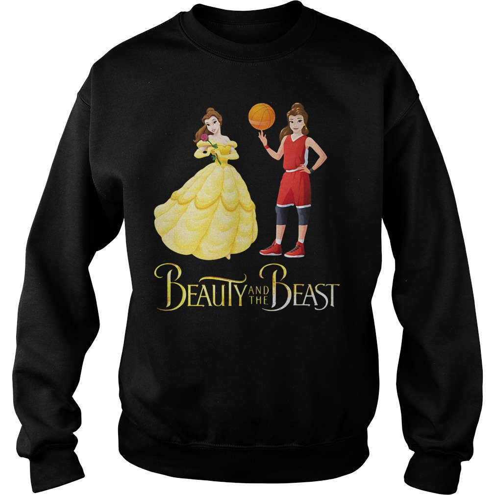 Beauty and the Beast Belle basketball Sweater
