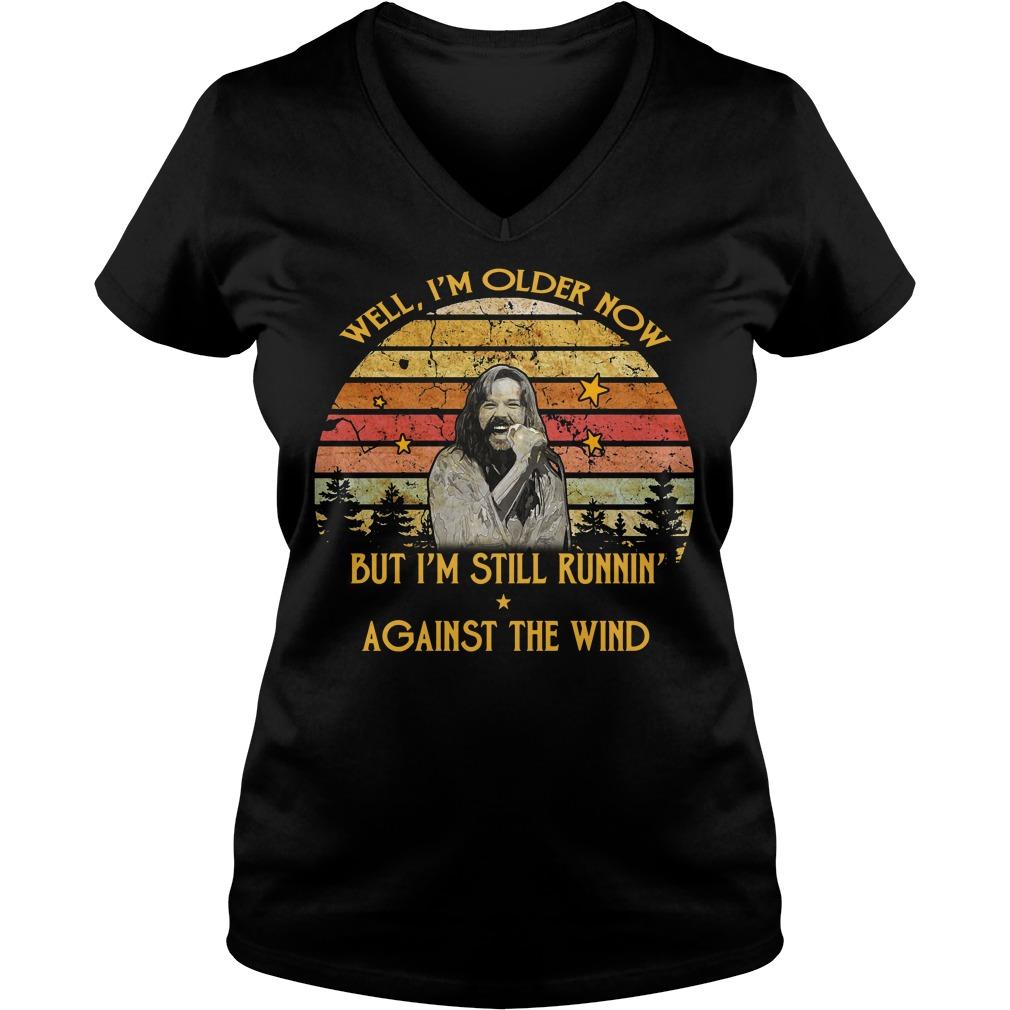 Bob Seger Well I am older now but I am still running against the wind vintage V-neck t-shirt