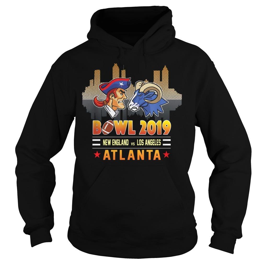 Bowl 2019 New England and Los Angeles Atlanta Hoodie