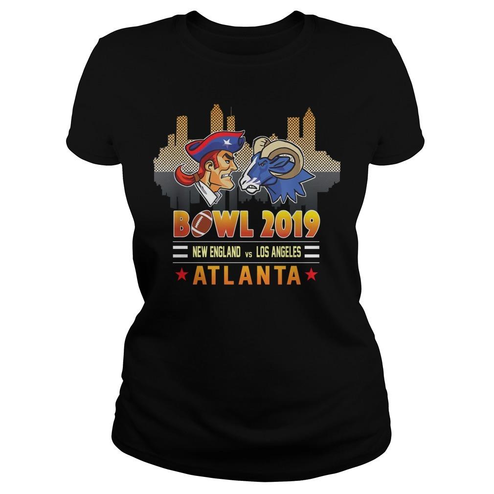 Bowl 2019 New England and Los Angeles Atlanta Ladies Tee