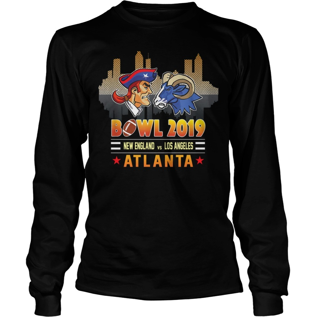 Bowl 2019 New England and Los Angeles Atlanta Longsleeve Tee
