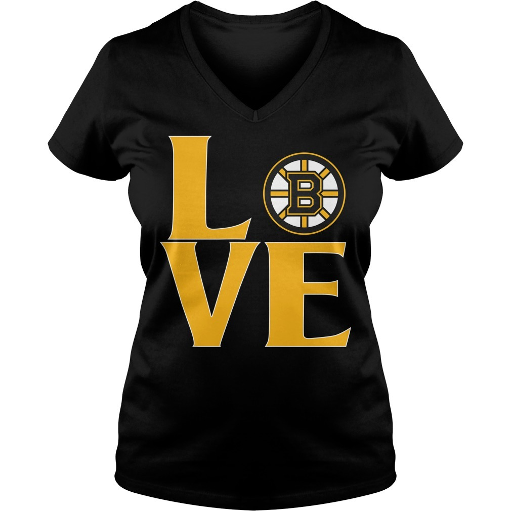 Bruins love V-neck T-shirt