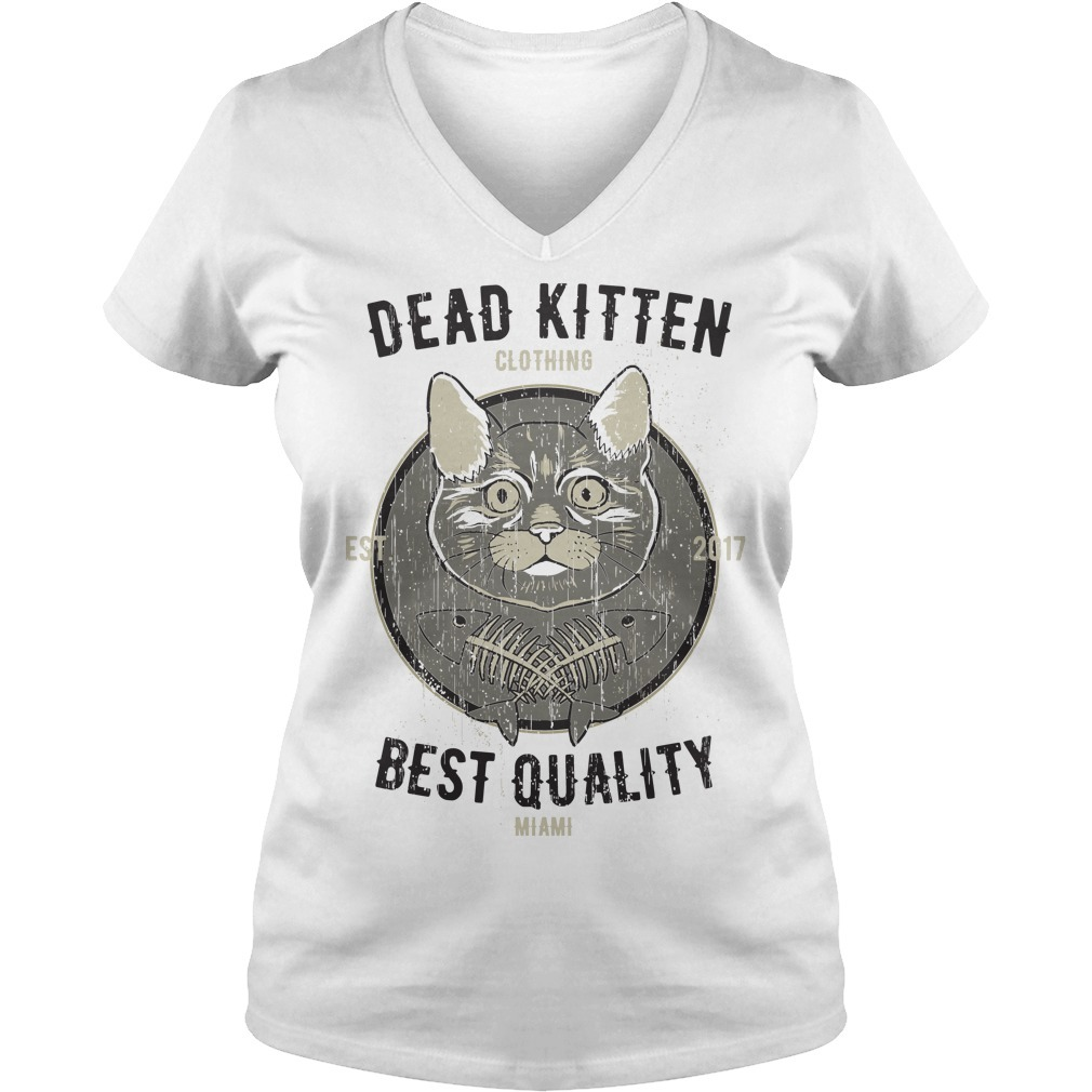 Cat dead kitten V-neck T-shirt