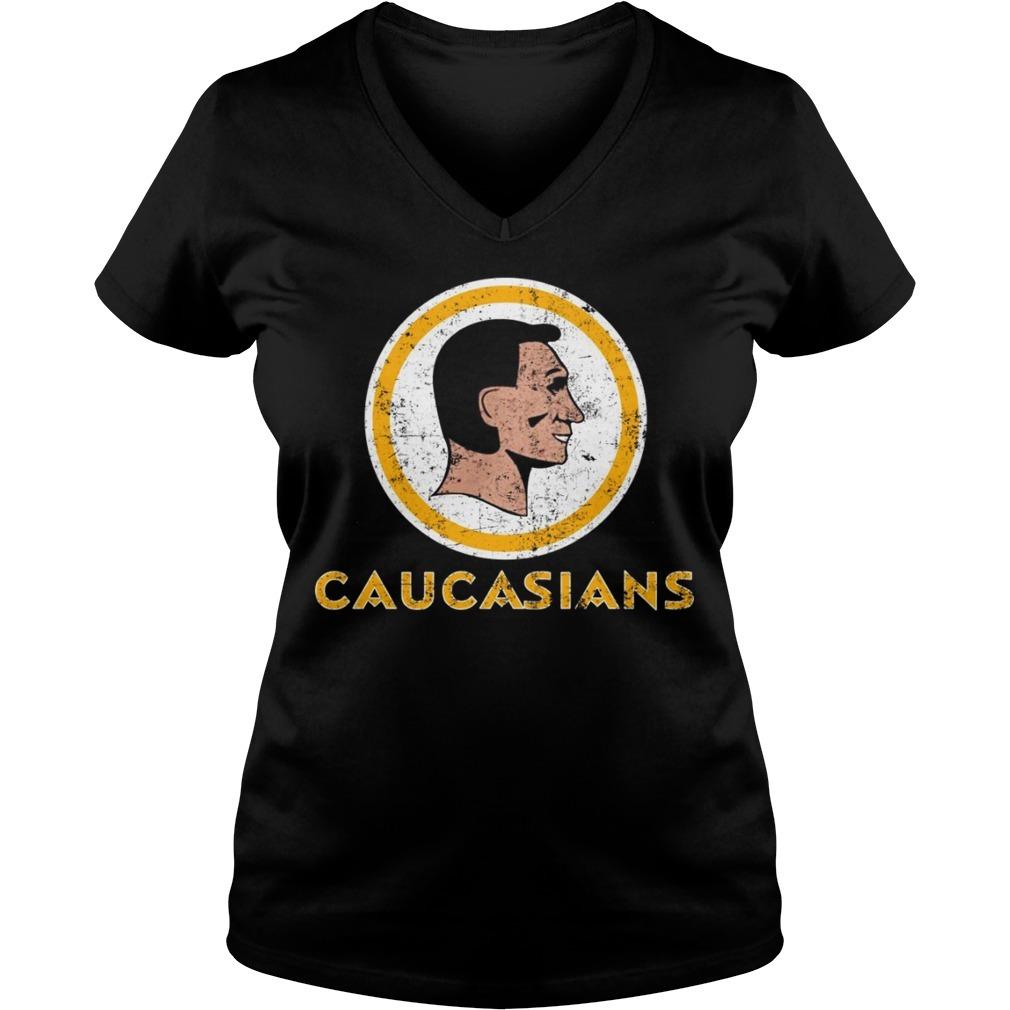 Caucasians Washington redskins V-neck T-shirt