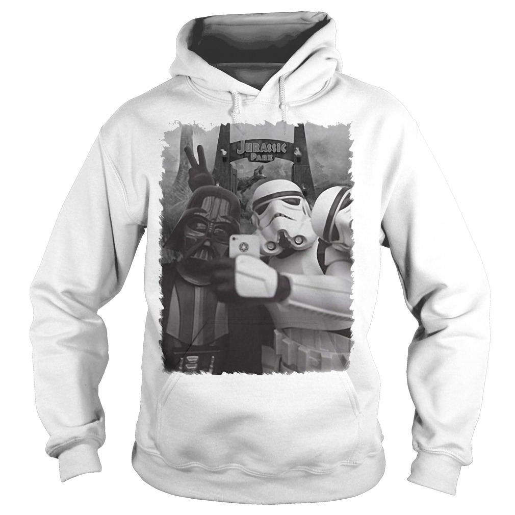 Darth Vader and Stormtrooper in Jurassic Pass Hoodie