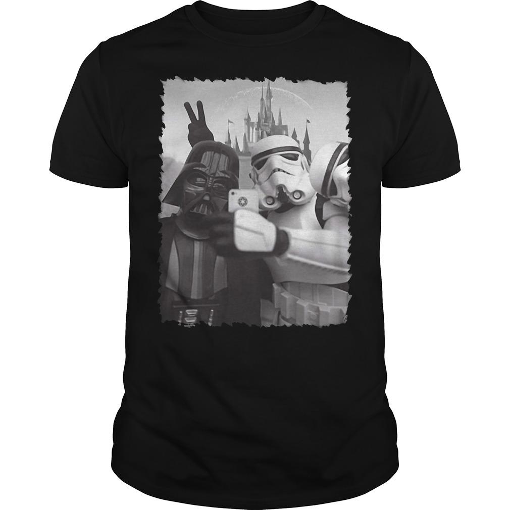 Darth Vader and Stormtrooper Selfie Star Wars in Disney Guys shirt