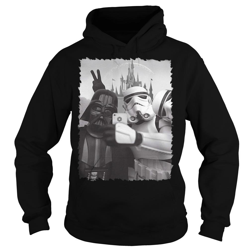Darth Vader and Stormtrooper Selfie Star Wars in Disney Hoodie