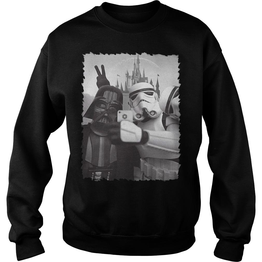 Darth Vader and Stormtrooper Selfie Star Wars in Disney Sweater