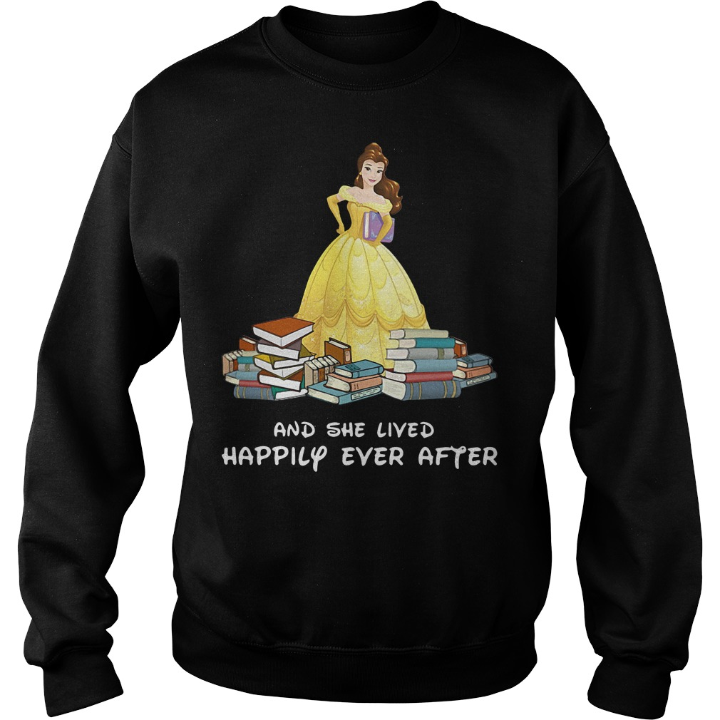 Disney Beauty Belle and she lived happily ever after Sweater