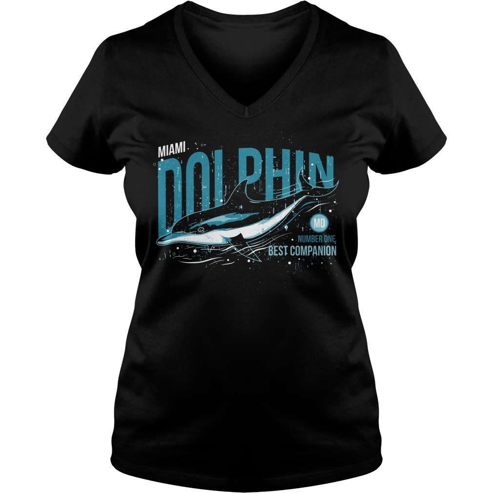 Dolphin number one best companion V-neck T-shirt