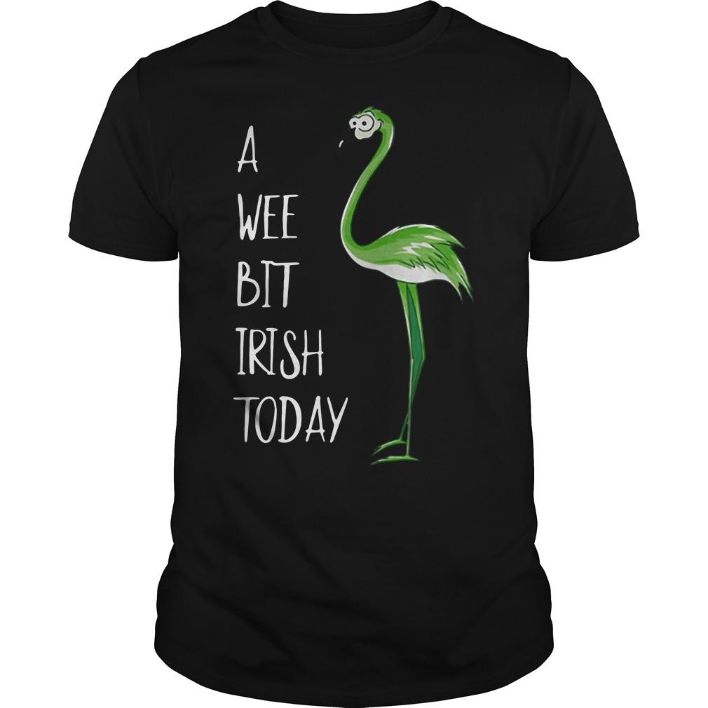 Flamingos a wee bit Irish today shirt