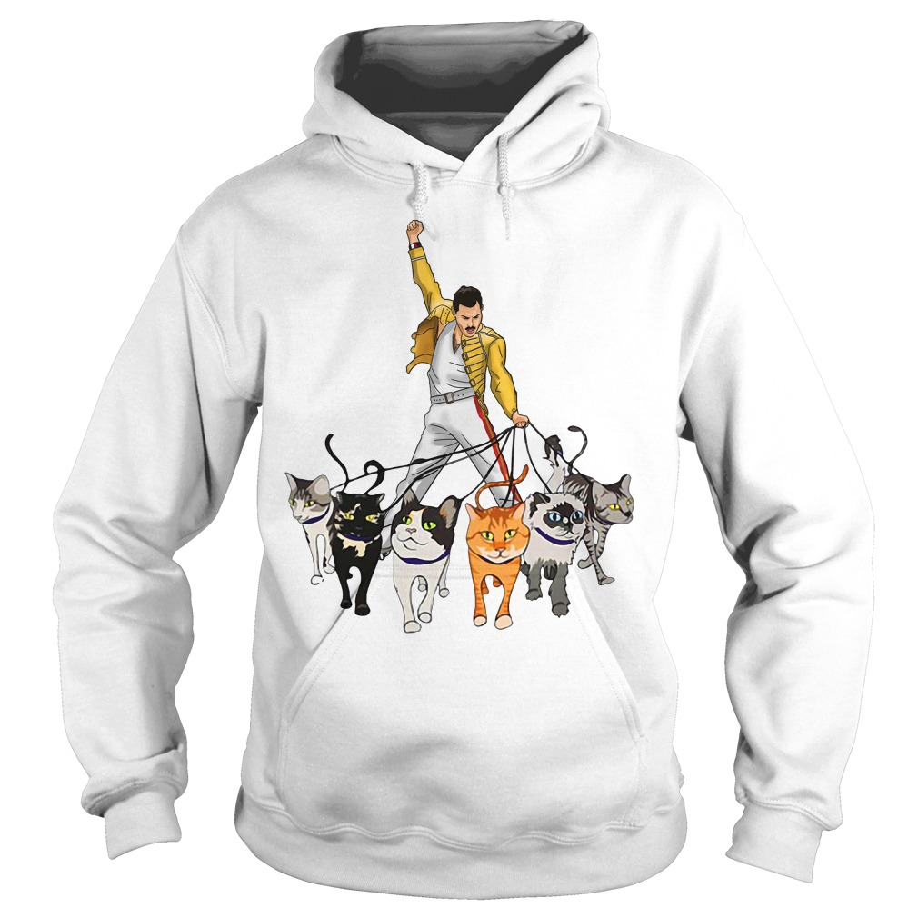 Freddie Mercury and cats Hoodie