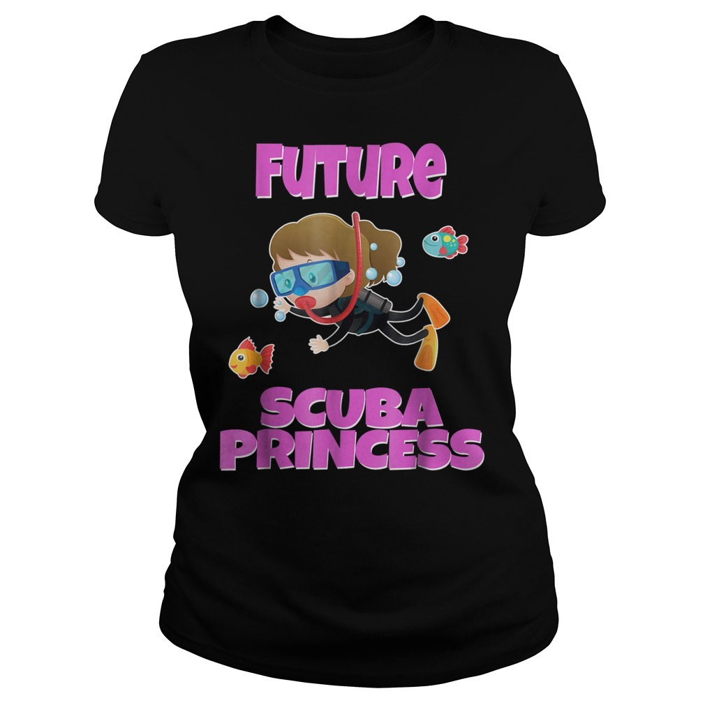 Future scuba princess snorkeling Ladies Tee