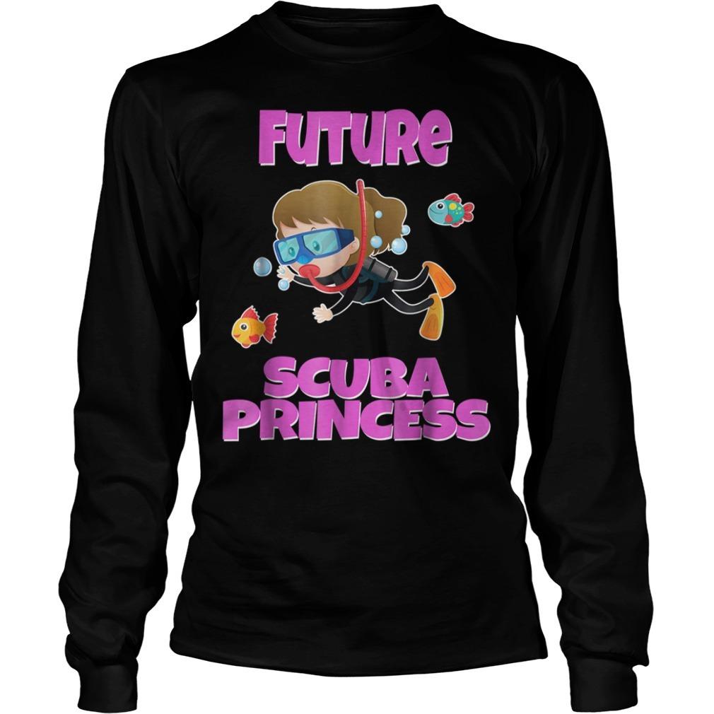 Future scuba princess snorkeling Longsleeve Tee