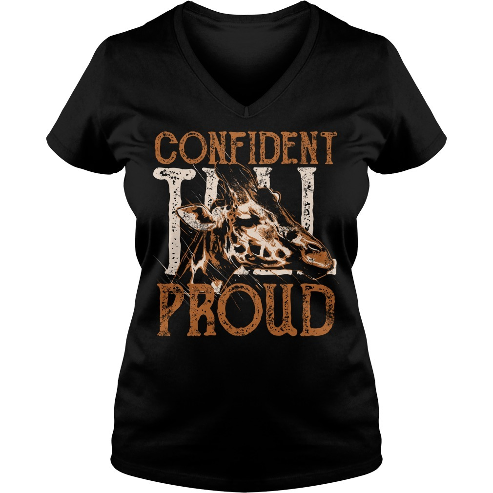 Giraffe confident proud V-neck T-shirt
