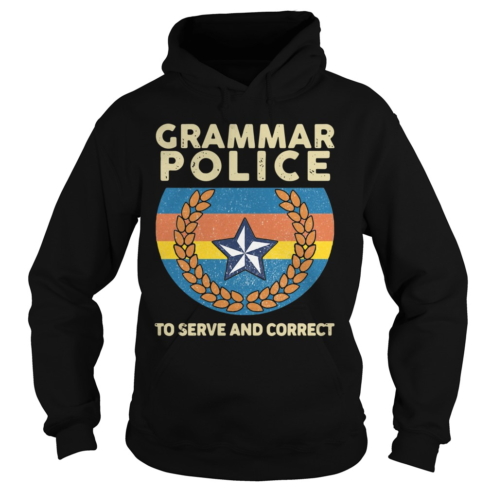 Grammar police to serve and correct vintage Hoodie