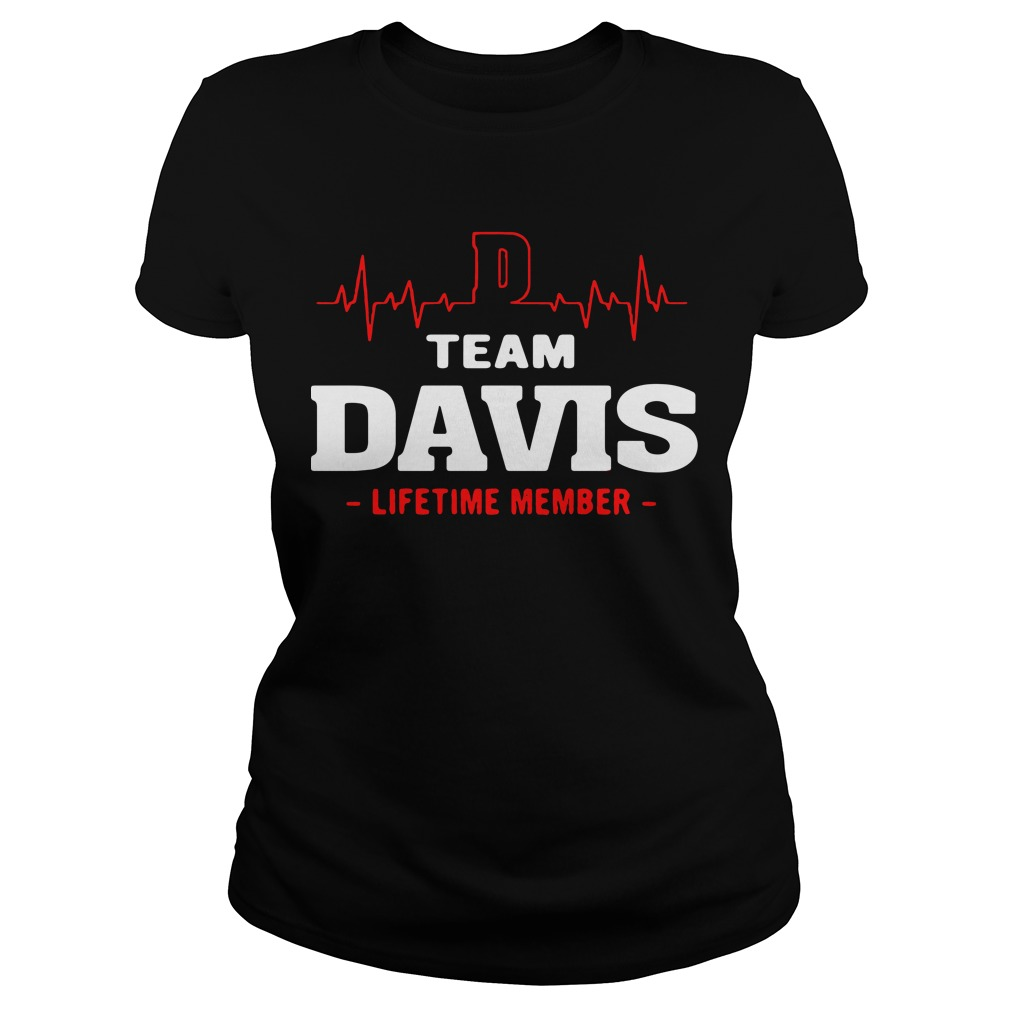 Heart beat team Davis lifetime member Ladies tee