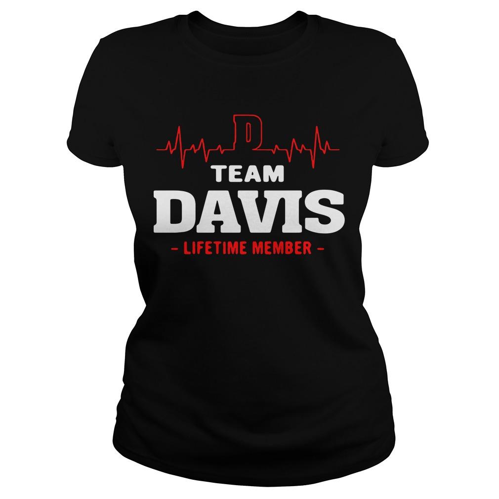 Heart beat team Davis lifetime member Ladies tee