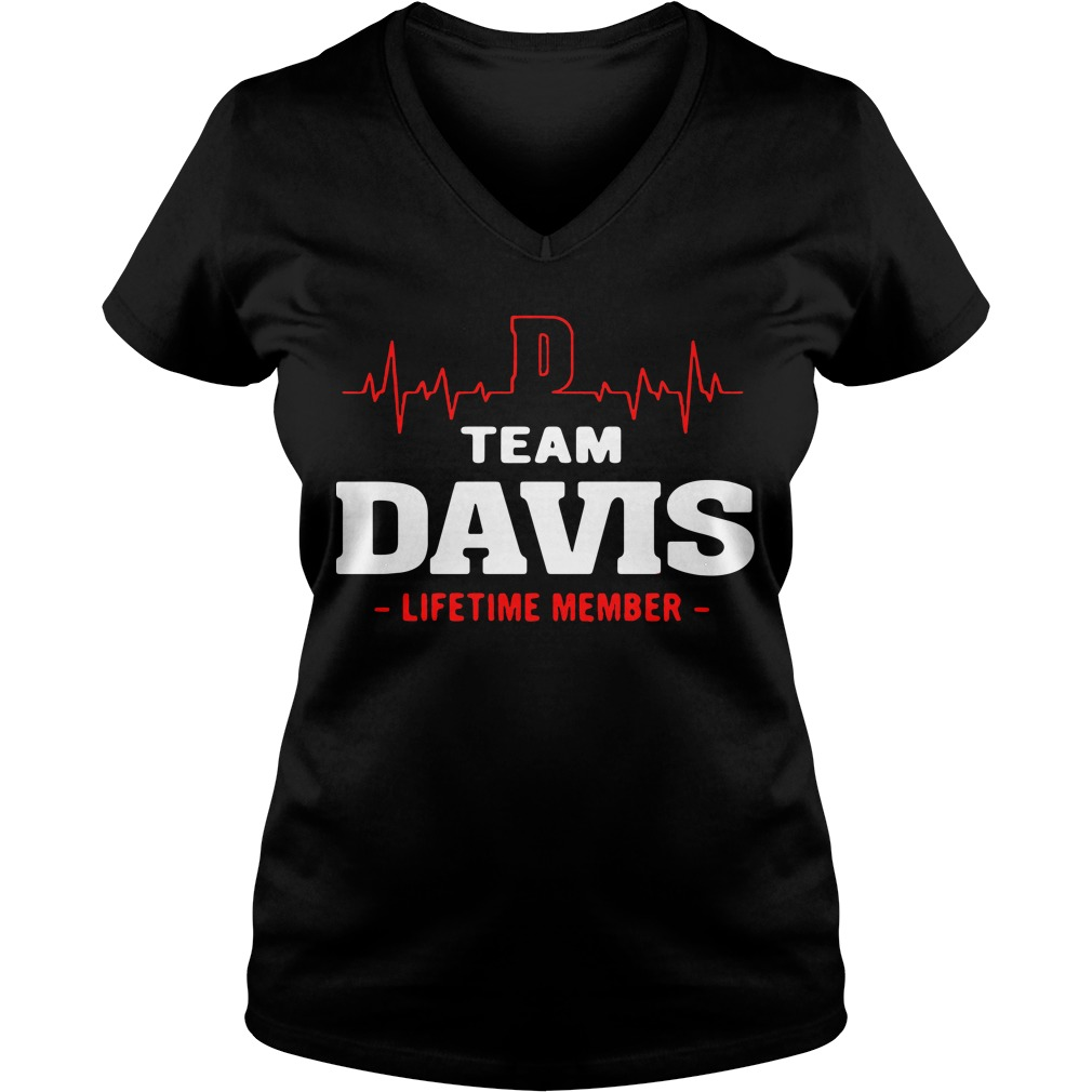 Heart beat team Davis lifetime member V-neck t-shirt