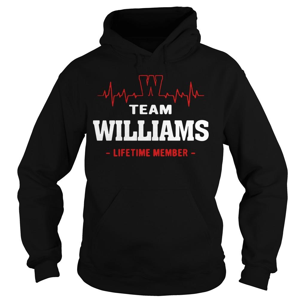 Heart beat team williams lifetime member Hoodie