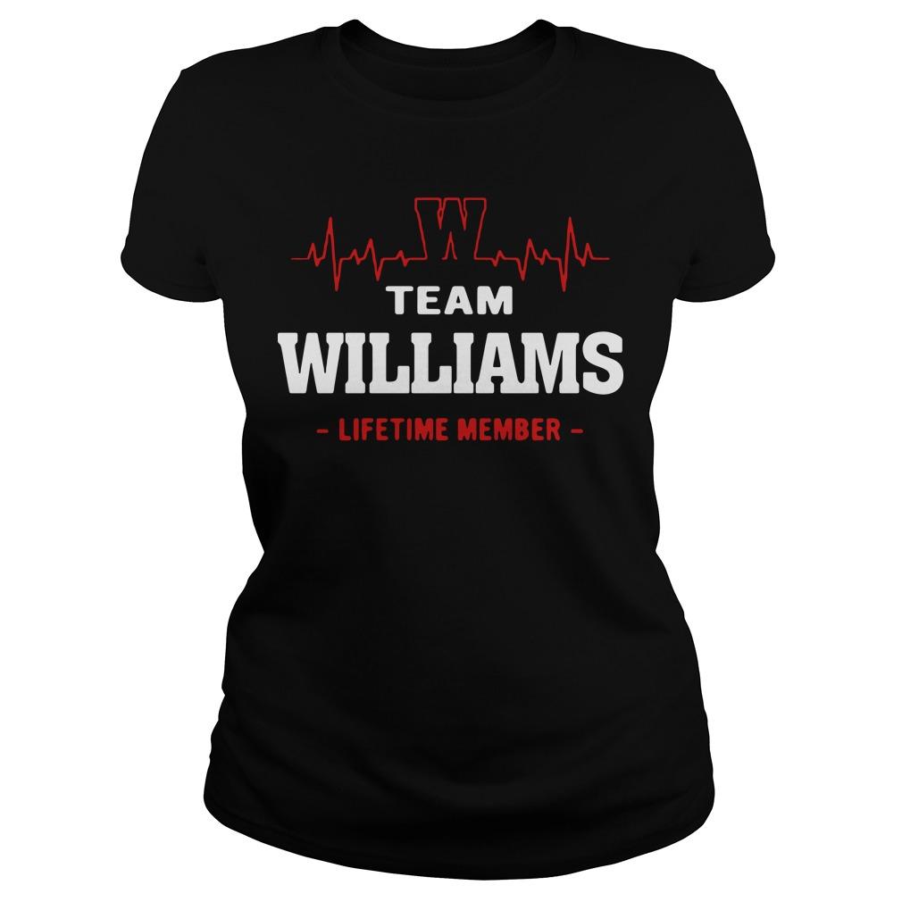 Heart beat team williams lifetime member Ladies tee