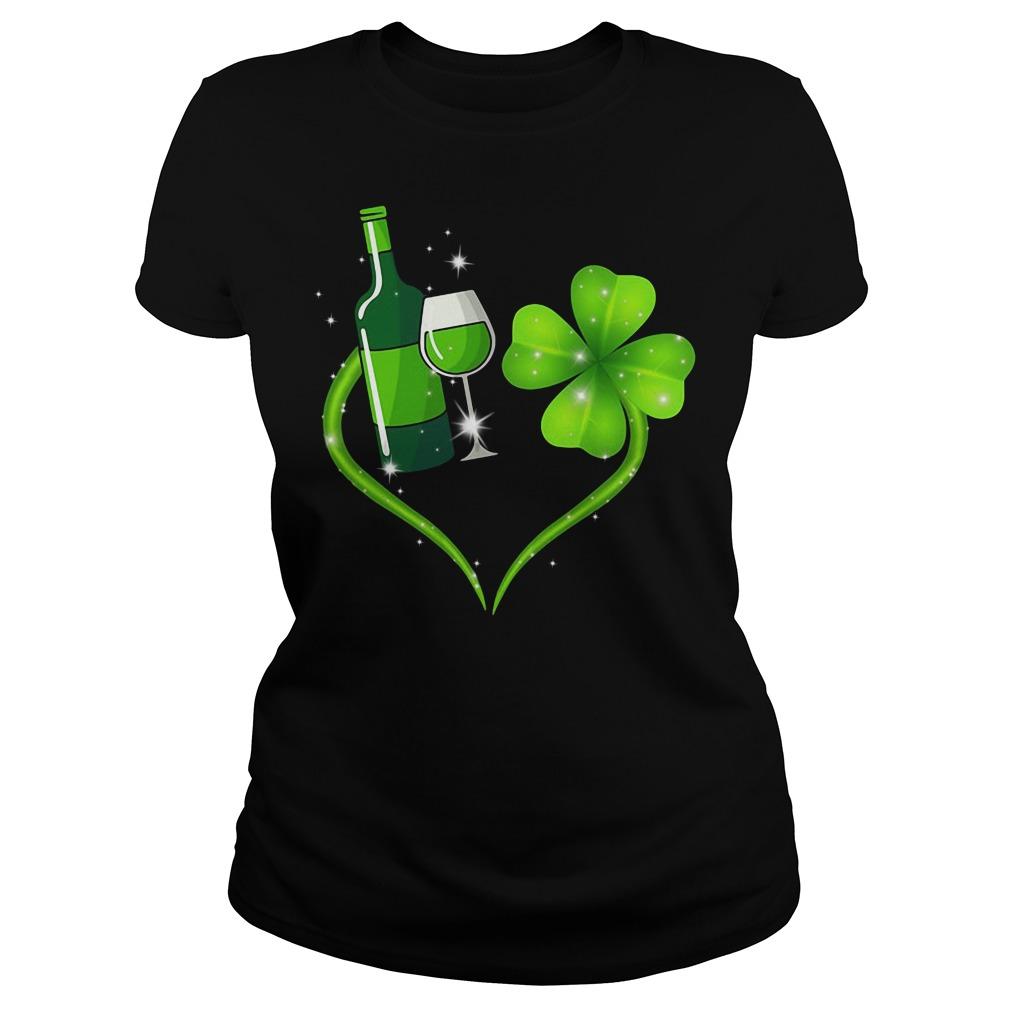 Heart Wine Irish St. Patrick's Day Ladies tee