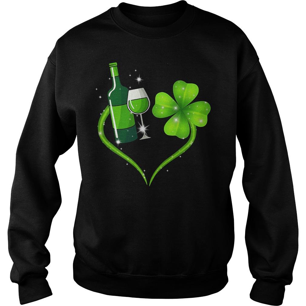 Heart Wine Irish St. Patrick's Day Sweater
