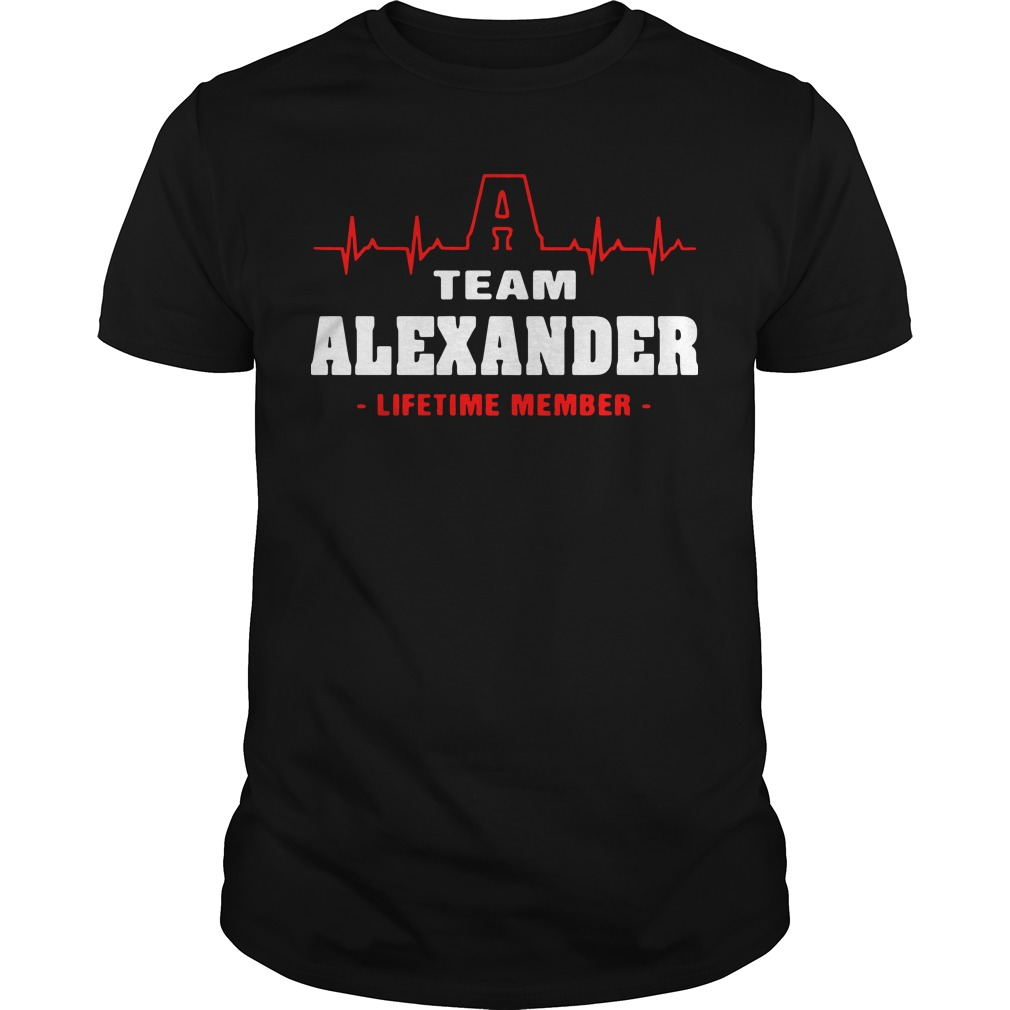 Heartbeat team alexander lifetime member shirt