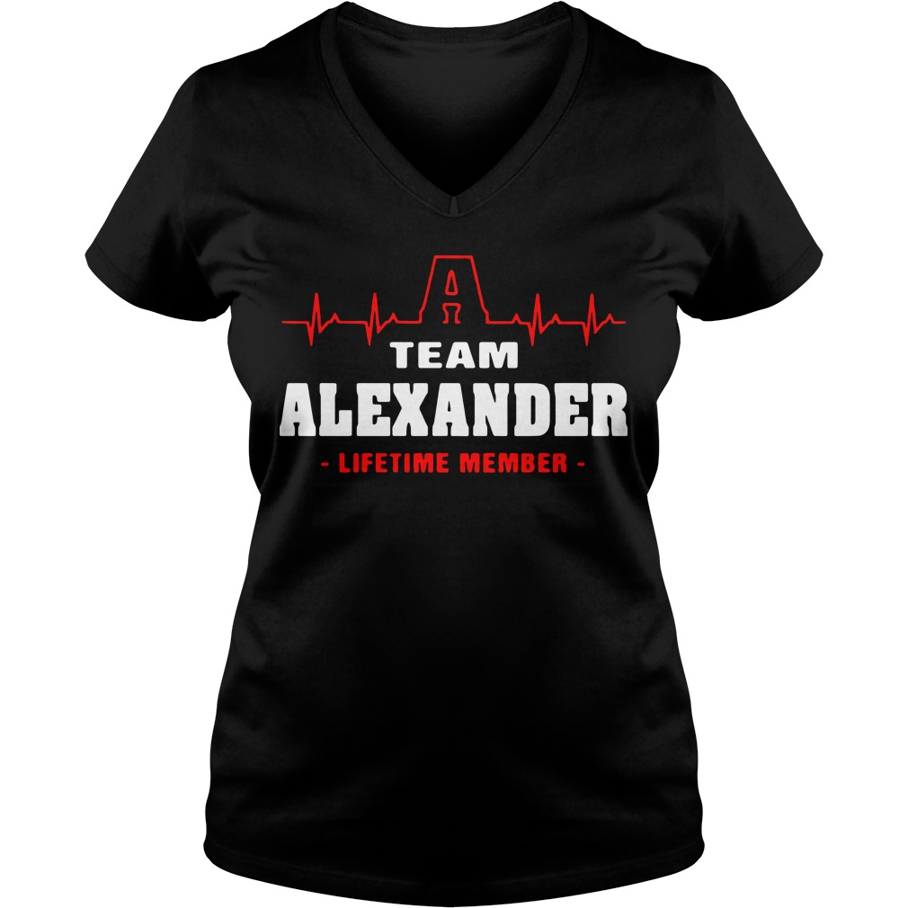 Heartbeat team alexander lifetime member V-neck t-shirt