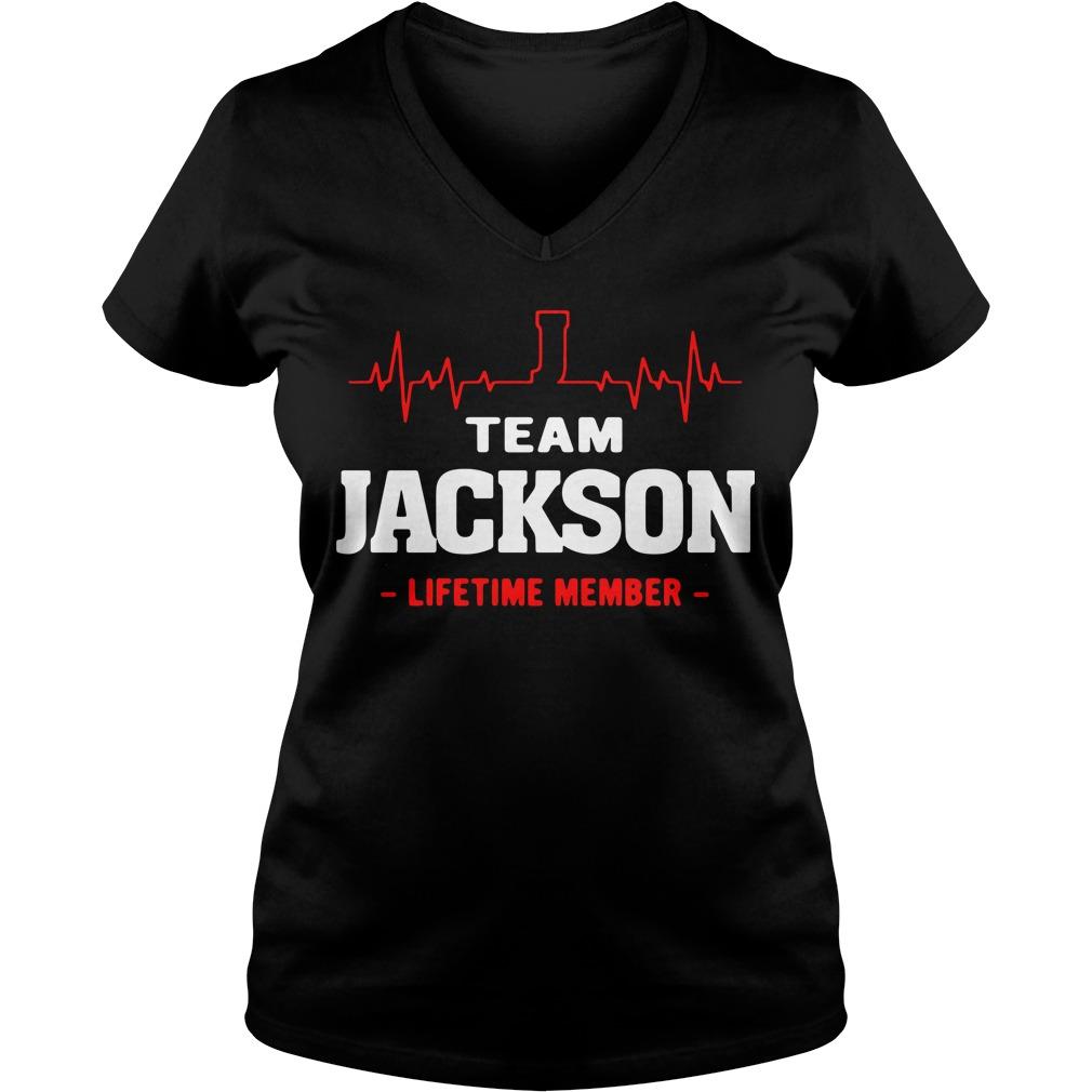 Heartbeat team Jackson lifetime member V-neck t-shirt