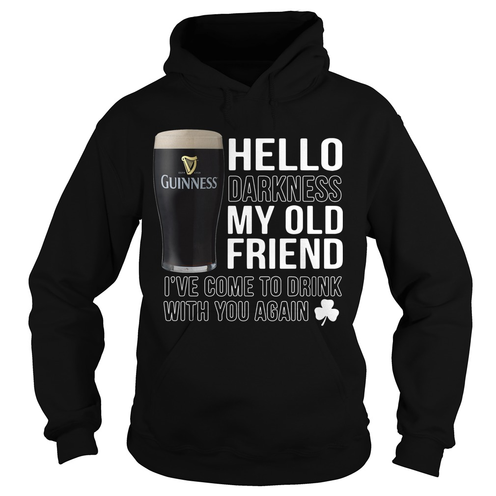 Hello Darkness my old friend I've come to drink with you again Hoodie