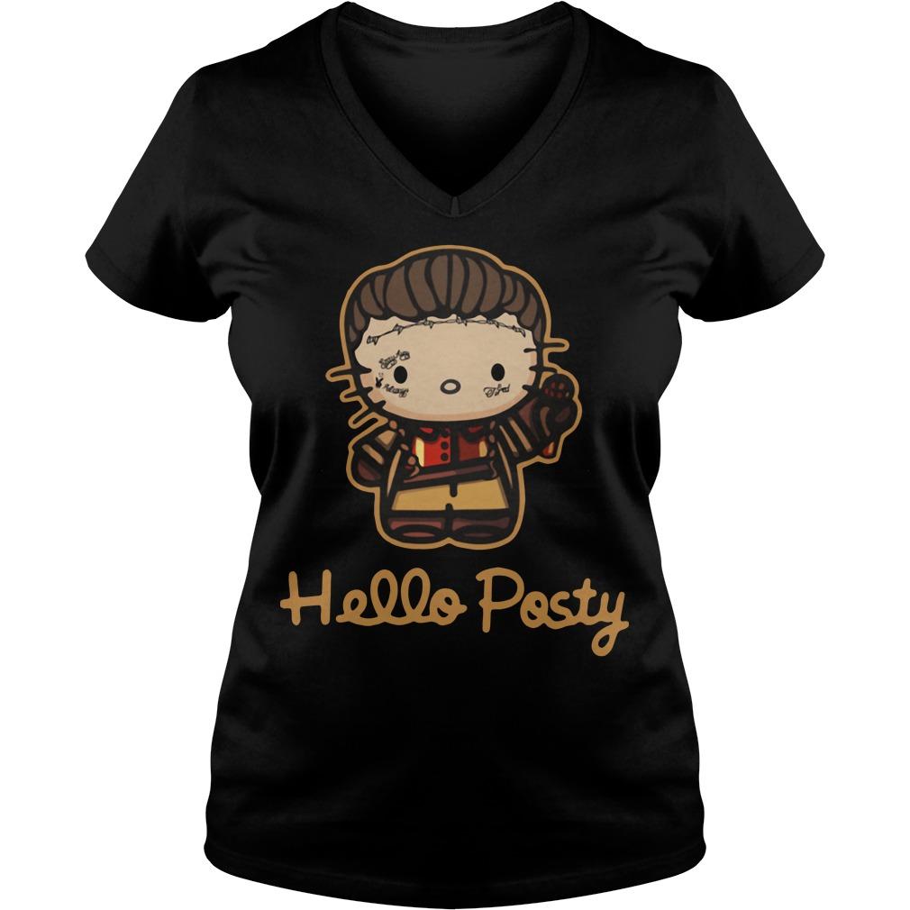 Hello Posty Post Malone V-neck-t-shirt