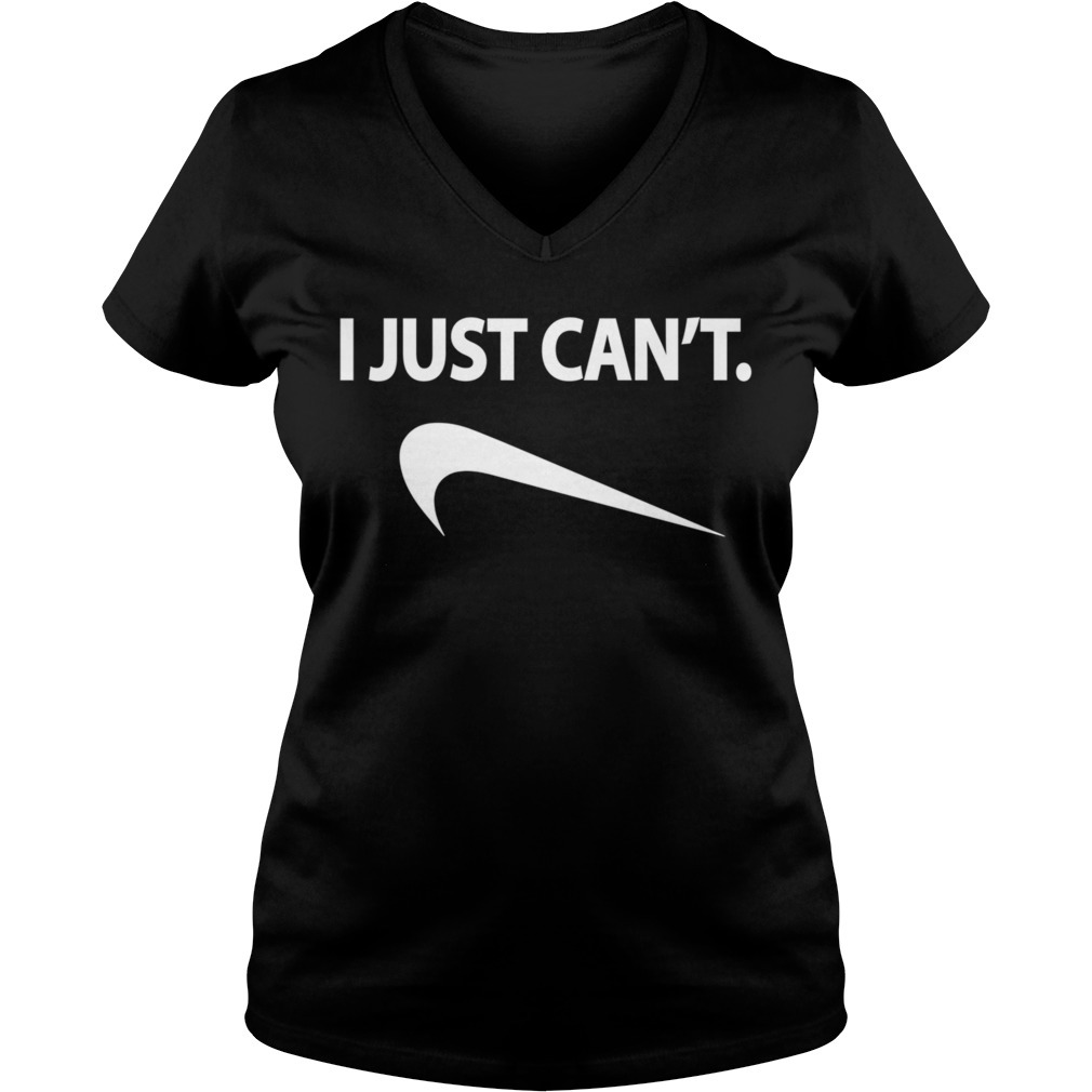 I just can't V-neck T-shirt